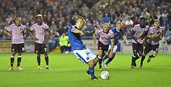 Carlisle United's Danny Grainger misses his penalty kick