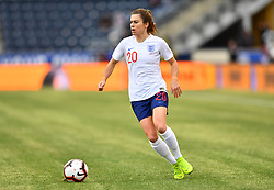 February 27, 2019 - Chester, PA, U.S. - CHESTER, PA - FEBRUARY 27: England Forward Karen Carney (20) carries the ball in the first half during the She Believes Cup game between Brazil and England on February 27, 2019 at Talen Energy Stadium in Chester, PA. (Photo by Kyle Ross/Icon Sportswire) (Credit Image: © Kyle Ross/Icon SMI via ZUMA Press)