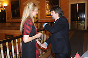 KATHERINE KINGSLEY; TREVOR NUNN, Party following the Theatre Royal press night performance of The Lion in Winter , The Institute of Directors. London. 15 November 2011. <br /> <br />  , -DO NOT ARCHIVE-© Copyright Photograph by Dafydd Jones. 248 Clapham Rd. London SW9 0PZ. Tel 0207 820 0771. www.dafjones.com.