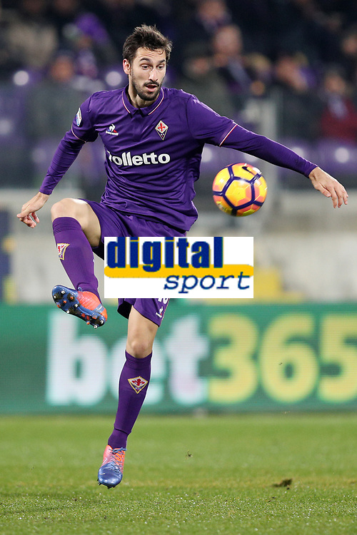 """Davide Astori Fiorentina<br /> Firenze 22-12-2016  Stadio """"Artemio Franchi""""<br /> Campionato Serie A 2016/2017<br /> Fiorentina - Napoli 3-3<br /> Foto Luca Pagliaricci / Insidefoto<br /> Fiorentina captain Davide Astori dies suddenly aged 31 . <br /> Astori was staying a hotel with his team-mates ahead of their game on Sunday away at Udinese when he passed away. <br /> Foto Insidefoto"""