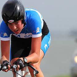 Brainwash Ladiestour Dronten Team Time Trail Willeke Knol in de trui van Sengers metaal