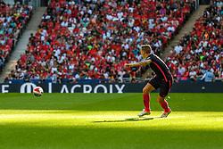 Liverpool FC v FC Barcelona, Wembley Stadium, 2016, August 06 2016. Juan Camara Mesa, left winger for FC Barcelona - EDITORIAL USE ONLY