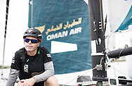 The Extreme Sailing Series 2016. Act 4. Hamburg. Germany. 31st July 2016.<br /> Winners of the act, Oman Air skippered by Morgan Larson with team mates Pete Greenhalgh, Nasser Al Mashari, Ed Smyth, James Wierzbowski(Photo by Lloyd Images)