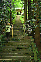 Steps to Monju Temple, Kyushu
