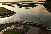 Aerial view of the salt marsh at Isle of Palms, SC.