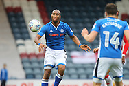 Calvin Andrew during the EFL Sky Bet League 1 match between Rochdale and Gillingham at Spotland, Rochdale, England on 23 September 2017. Photo by Daniel Youngs.