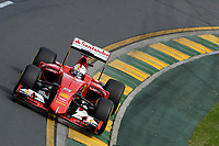 VETTEL sebastian (ger) ferrari sf15t action during 2015 Formula 1 championship at Melbourne, Australia Grand Prix, from March 13th to 15th. Photo DPPI / Eric Vargiolu.