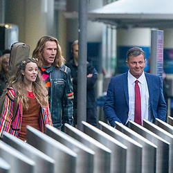 Will Ferrell and Rachel McAdams filming scenes for their new Netflix movie Eurovision.