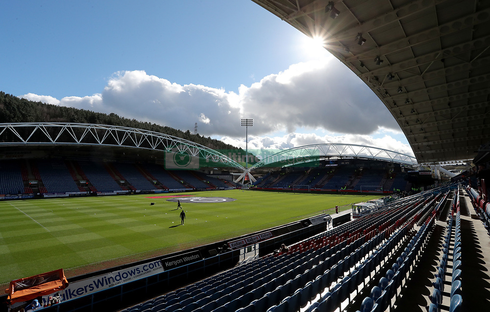 General view of the pitch ahed of the Premier League match at the John Smith's Stadium, Huddersfield.