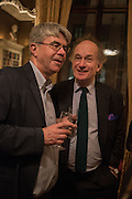 DAN FRANKIN; DAVID CAMPBELL, The Walter Scott Prize for Historical Fiction 2015 - The Duke of Buccleuch hosts party to for the shortlist announcement. <br /> The winner is announced at the Borders Book Festival in Scotland in June.John Murray's Historic Rooms, 50 Albemarle Street, London, 24 March 2015.