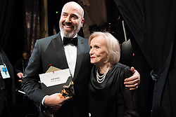 March 4, 2018 - Hollywood, California, U.S. - Mark Bridges poses backstage with Eva Marie Saint and the Oscar for Achievement in costume design, for work on Phantom Thread during the live ABC Telecast of The 90th Oscars at the Dolby Theatre in Hollywood. (Credit Image: ? Matt Petit/AMPAS via ZUMA Wire/ZUMAPRESS.com)
