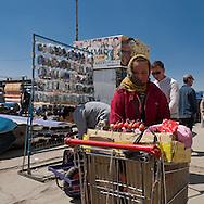 Mongolia. Ulaanbaatar. street sellers in the city center of  Ulaanbaatar. ,  .