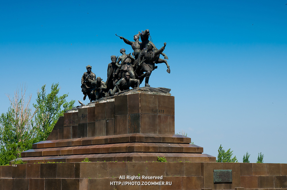 Monument to Chapaev (the hero of the Russian civil war) In Samara, Russia