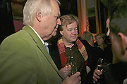 SIR TIM RICE AND CHRISTOPHER SYLVESTER, Literary Review's Bad Sex In Fiction Prize.  In & Out Club (The Naval & Military Club), 4 St James's Square, London, SW1, 29 November 2006. <br />Ceremony honouring author who writes about sex in a 'redundant, perfunctory, unconvincing and embarrassing way'. ONE TIME USE ONLY - DO NOT ARCHIVE  © Copyright Photograph by Dafydd Jones 248 CLAPHAM PARK RD. LONDON SW90PZ.  Tel 020 7733 0108 www.dafjones.com