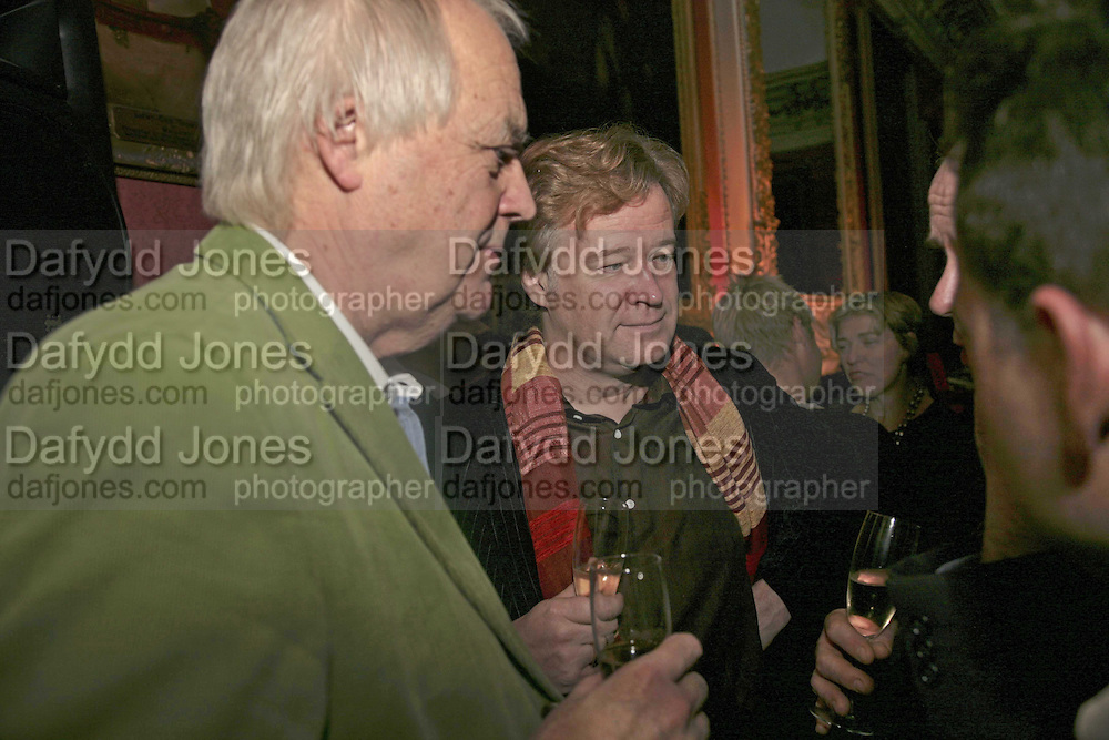 SIR TIM RICE AND CHRISTOPHER SYLVESTER, Literary Review's Bad Sex In Fiction Prize.  In & Out Club (The Naval & Military Club), 4 St James's Square, London, SW1, 29 November 2006. <br />