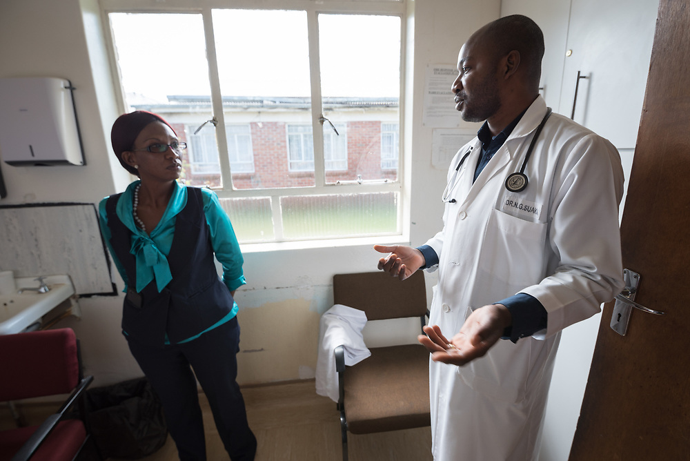 2 March 2017, Ma Mafefooane Valley, Lesotho: Nurse Lisebo Chalatse at the Children's Ward. Saint Joseph's Hospital is a district hospital in the Ma Mafefooane Valley in Lesotho. The hospital was established in 1937 and is run as a Roman Catholic non-profit institution by the Christian Health Association of Lesotho. As a district hospital, it offers comprehensive healthcare including male, female, paediatric, Tuberculosis and maternity care. It is closely linked with the neighbouring Roma College of Nursing, which runs on similar premises as part of the same institution. Drug supplies are secured to the hospital by means of a Memorandum of Understanding with the government.