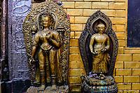 Nepal, Vallee de Kathmandu, Ville de Patan, Golden temple ou temple d'or, Détail// Nepal, Kathmandu valley, Patan city, Golden temple