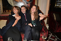 Left to right, LADY ANNABEL GOLDSMITH, her son BEN GOLDSMITH and JEMIMA JONES at the Pig Pledge Evening at Club no41, 41 Conduit Street, London on 10th March 2014.