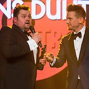 NLD/Amsterdam//20140331 - Uitreiking Edison Pop 2014, Frans Duijts en Johnny de Mol