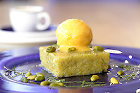 The new First Floor cafe and dad creche at the new Windermere store food lemon slice with ice cream