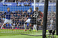 Oumar Niasse of Everton (c) scores his teams 2nd goal to make it 2-1. Premier league match, Everton vs Bournemouth at Goodison Park in Liverpool, Merseyside on Saturday 23rd September 2017.<br /> pic by Chris Stading, Andrew Orchard sports photography.