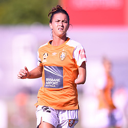 BRISBANE, AUSTRALIA - FEBRUARY 11: Carson Pickett of the Roar in action during the Westfield W-League Semi Final match between the Brisbane Roar and Melbourne City at Perry Park on February 11, 2018 in Brisbane, Australia. (Photo by Patrick Kearney / Brisbane Roar)