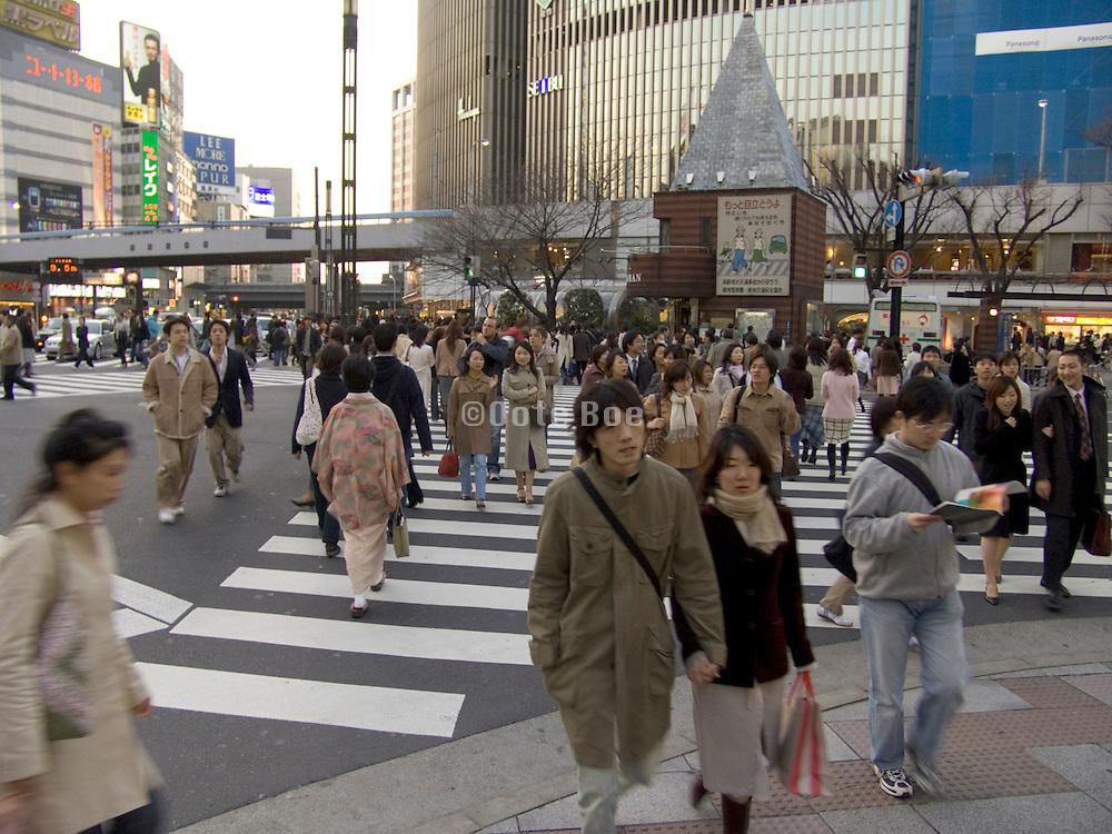 pedestrian crossing in Ginza Tokyo