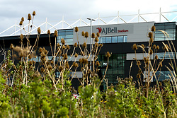 A general view of the AJ Bell Stadium, home to Sale Sharks - Mandatory by-line: Robbie Stephenson/JMP - 09/09/2018 - RUGBY - AJ Bell Stadium - Manchester, England - Sale Sharks v Worcester Warriors - Gallagher Premiership