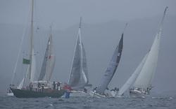Clyde Cruising Club's Scottish Series 2019<br /> 24th-27th May, Tarbert, Loch Fyne, Scotland<br /> <br /> Class 8, start, CV, Glenafton, GBR6917T, Celtic Spirit,  CCC, X332, SWE557, Merliz, CCC, Dufour 40 Performance<br /> <br /> Credit: Marc Turner / CCC