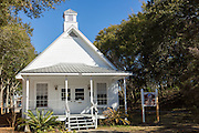 The original Camp Walton schoolhouse at Heritage Park and Cultural Center in Fort Walton Beach, Florida.