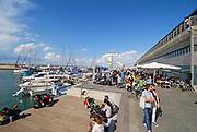 Israel, Jaffa, Fishing boats in the ancient port