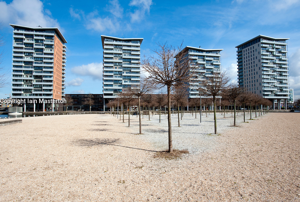 Modrern apartment towers in The Hague, The Netherlands