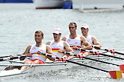 Henley, GREAT BRITAIN, Prince of Walesl Challenge Cup. Tideway Scullers School.  Bow. TYNMAN, .Richard.  .DUNLEY,.James. HENNESSY, Michael .Stroke, KUSURIN, Ante. 2010 Henley Royal Regatta. 14:52:26   Thursday  01/07/2010.  [Mandatory Credit: Peter Spurrier / Intersport-images] Rowing Courses, Henley Reach, Henley, ENGLAND . HRR.