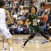 Shaleth Stringfield, USF, in action during the UConn Huskies Vs USF Bulls Basketball Final game at the American Athletic Conference Women's College Basketball Championships 2015 at Mohegan Sun Arena, Uncasville, Connecticut, USA. 9th March 2015. Photo Tim Clayton
