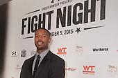"HANDOUT: Michael B. Jordan and director Ryan Coogler promote ""CREED"" at FIGHT NIGHT."
