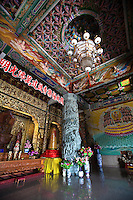 Colorful frescos at Kek Lok Si Temple or Temple of Supreme Bliss -  one of the best known temples in Penang. It is said to be the largest Buddhist temple in Southeast Asia.