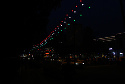 August 13, 2017 - Delhi, India - Entire Delhi, India, on 14 August 2017  is decorated on the Eve of 70th Independence Day. (Credit Image: © Nasir Kachroo/NurPhoto via ZUMA Press)