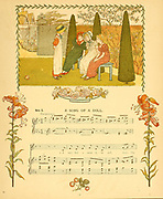 A day in a child's life Illustrated by Kate Greenaway. Music by Myles Birket Foster, Published in London and New York By George Routledge and Sons in 1881