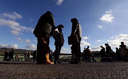 General view of spectators during day one of the Showcase at Cheltenham Racecourse