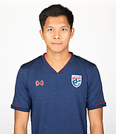 THAILAND - MARCH 18: Pansa Hemviboon of Thailand National Football Team Photoshoot on March 18, 2019.<br /> .<br /> .<br /> .<br /> (Photo by: Naratip Golf Srisupab/SEALs Sports Images/MB Media Solutions)