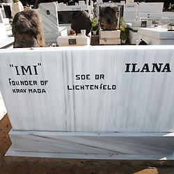 The grave of the founder of Krav Maga, Imi Lichtenfeld