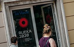 THEMENBILD - Rijeka 2020 schriftzug, aufgenommen am 14. August 2019 in Rijeka, Kroatien // Rijeka 2020 lettering in Rijeka, Croatia on 2019/08/14. EXPA Pictures © 2019, PhotoCredit: EXPA/ JFK