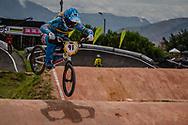 #91 (VANHOOF Elke) BEL at the 2016 UCI BMX World Championships in Medellin, Colombia.