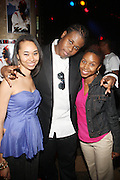 l to r: Erica Boston, Josh X, and Tasha Stoute at The Josh X showcase sponsored by MusaEntertainment and held at SOB's on August 27, 2009 in New York City