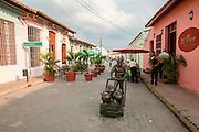 Cuba, Camaguey. Street art Plaza del Carmen