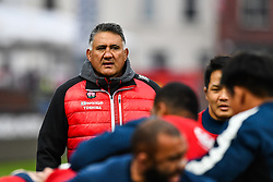 Jamie Joseph Head coach of Japan watches over the pre match warm up<br /> <br /> Photographer Craig Thomas<br /> <br /> Japan v Russia<br /> <br /> World Copyright ©  2018 Replay images. All rights reserved. 15 Foundry Road, Risca, Newport, NP11 6AL - Tel: +44 (0) 7557115724 - craig@replayimages.co.uk - www.replayimages.co.uk