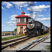 Train and Tower<br /> Strasburg Railroad, PA<br /> August 2013