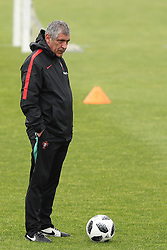May 30, 2018 - Oeiras, Portugal - Portugal's head coach Fernando Santos looks on during a training session at Cidade do Futebol (Football City) training camp in Oeiras, outskirts of Lisbon, on May 30, 2018, ahead of the FIFA World Cup Russia 2018 preparation matches against Belgium and Algeria...........during the Portuguese League football match Sporting CP vs Vitoria Guimaraes at Alvadade stadium in Lisbon on March 5, 2017. Photo: Pedro Fiuzaduring the Portugal Cup Final football match CD Aves vs Sporting CP at the Jamor stadium in Oeiras, outskirts of Lisbon, on May 20, 2015. (Credit Image: © Pedro Fiuza via ZUMA Wire)