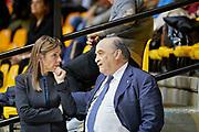 Gherardo Tecchi, Presidente della FGI, e Emanuela Maccarani, Direttrice Tecnica Nazionale, al bilaterale Italia Azerbaijan.
