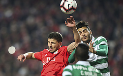 February 7, 2019 - Na - Lisbon, 06/02/2019 - SL Benfica received this evening the Sporting CP in the Stadium of Light, in game the account for the first leg of the Portuguese Cup 2018/19 semi final. Ruben Dias and Tiago Ilori  (Credit Image: © Atlantico Press via ZUMA Wire)